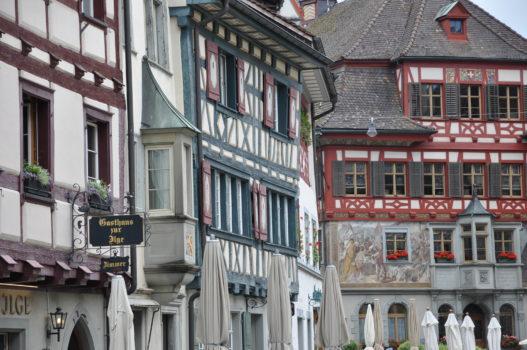 Häuserfassaden in Stein am Rhein